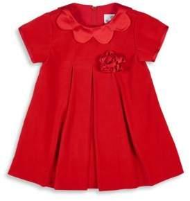 Florence Eiseman Baby's Scallop Collar Velvet Dress