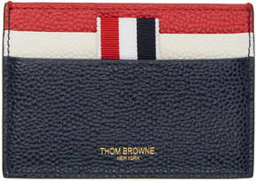 Thom Browne Tricolor Stripe Card Holder