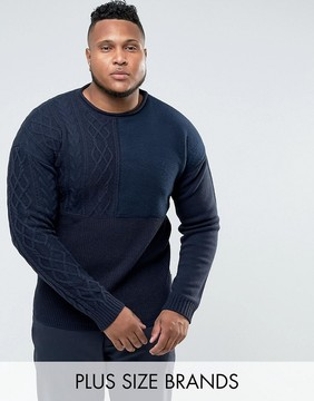 Bellfield PLUS Sweater With Mixed Textures