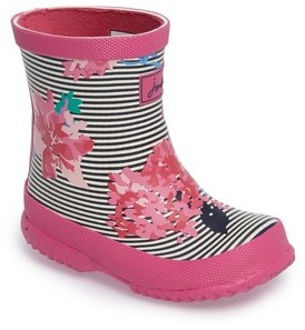 Joules Toddler Girl's Printed Waterproof Rain Boot