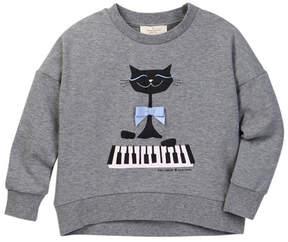 Kate Spade cat print sweatshirt (Toddler & Little Girls)