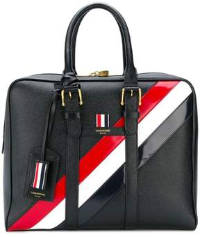 Thom Browne three-coloured oblique detail tote