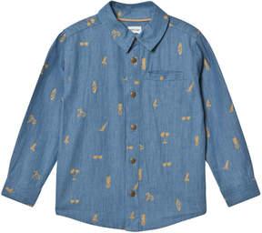 Mini A Ture True Navy Jeppe Shirt