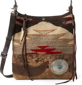 Ralph Lauren Concho Wool-Leather Hobo Bag