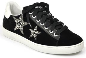 Lola Cruz 199Z65BK - Velvet Embellished Star Sneaker
