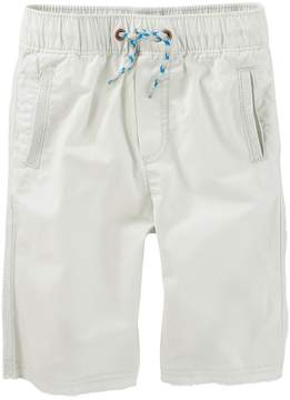 Osh Kosh Boys 4-12 Canvas Pull-On Jogger Shorts