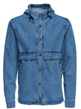 ONLY & SONS Denim Hooded Jacket