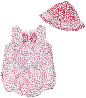 Absorba Girls' 2Pc Sunsuit & Hat Set