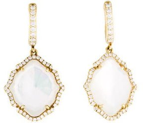 Frederic Sage 18K Diamond & Mother of Pearl Drop Earrings