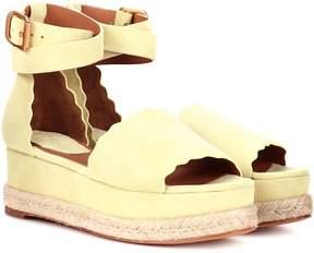 Chloé Lauren suede platform sandals