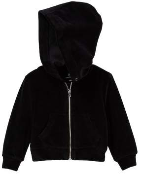 AG Jeans Velour Zip Front Hoodie (Baby Girls)