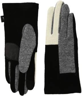 Echo Color Block Gloves Dress Gloves