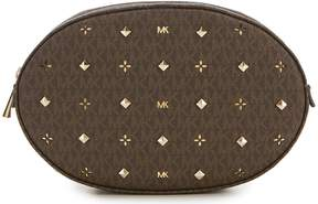 Michael Kors Signature Embellished Oval Belt Bag
