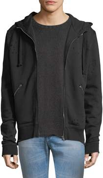 IRO Men's Laslo Distressed Cotton Hoodie