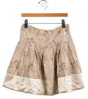 Simonetta Kids Girls' Pleated Jacquard Skirt