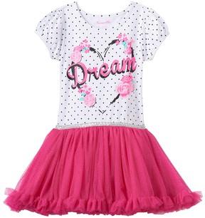 Nannette Toddler Girl Floral Glitter Mesh Dress