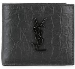 Saint Laurent Women's Black Leather Wallet. - BLACK - STYLE