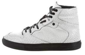 Balenciaga Craquele Leather Sneakers