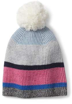 Gap Crazy stripe pom beanie