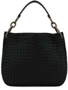 Bottega Veneta Small Loop Intrecciato Woven Hobo Bag