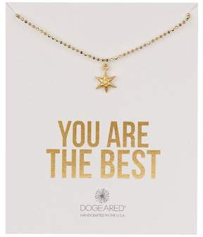 Dogeared 14K Gold Vermeil You Are the Best Wishing Star Necklace
