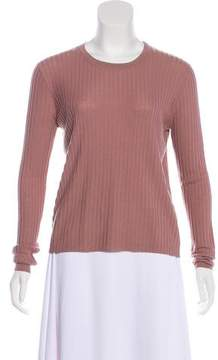 Allude Virgin Wool Rib Knit Top