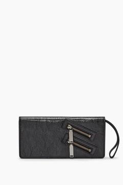 Rebecca Minkoff Long Snap Wallet - BLACK - STYLE