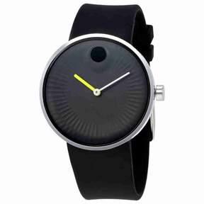 Movado Edge Black Aluminum Dial Men's Watch 3680003