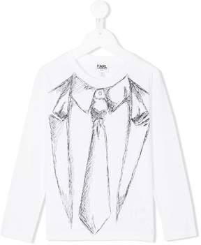 Karl Lagerfeld Tuxedo print T-shirt