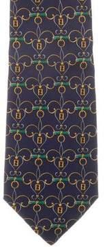 Fendi Silk Zucca Print Tie
