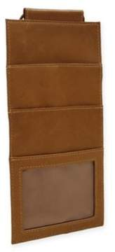 Piel Leather Classic Hanging Travel Wallet in Saddle