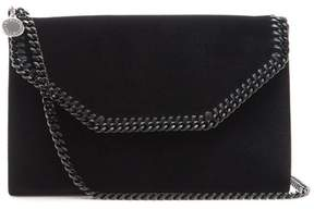 Stella McCartney Falabella Mini Velvet Cross Body Bag - Womens - Black