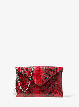 Michael Kors Snakeskin Envelope Clutch - RED - STYLE