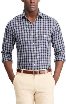 Chaps Men's Classic-Fit Checked Performance Twill Button-Down Shirt