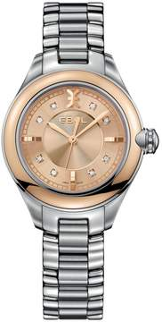 Ebel Onde Champage Diamond Dial Stainless Steel Ladies Watch