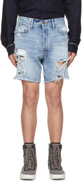 Fear Of God Blue Selvedge Denim Shorts