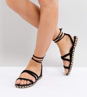 Asos JACI Wide Fit Plaited Espadrille Sandals
