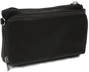 Women's Piel Leather Shoulder Bag/Wristlet 2860
