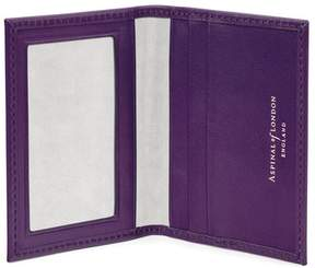 Aspinal of London Id Travel Card Case In Smooth Amethyst