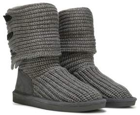 BearPaw Women's Knit Tall Fold Over Boot