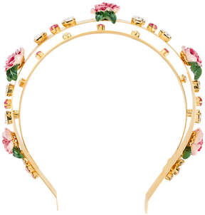 Dolce & Gabbana embellished double hair band