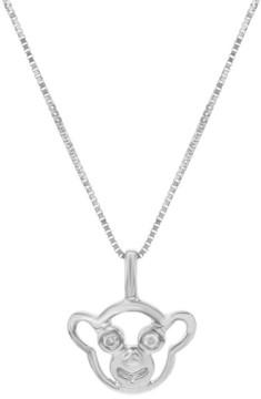 Damiani 18K White Gold & 0.02ct Diamond Pendant Necklace