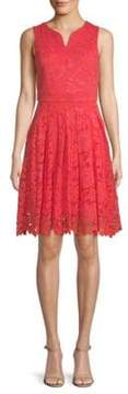 Donna Ricco Lace Fit-and-Flare Dress