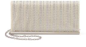 La Regale Lenore By Lenore by Simulated Pearl & Rhinestone Flap Clutch