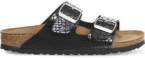 Birkenstock Arizona faux snake-leather sandals
