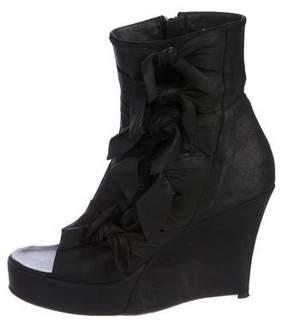 A.F.Vandevorst A.F. Vandevorst Leather Peep-Toe Ankle Boots