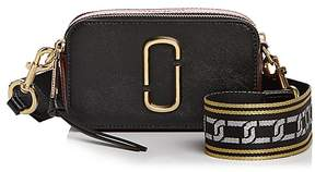 Marc Jacobs Snapshot Chain Link Strap Color Block Leather Camera Bag - BLACK/CHIANTI/GOLD - STYLE
