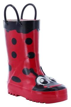 Western Chief Toddler Girl Ladybug Rain Boot Red