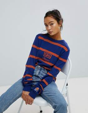 Ellesse Oversized Sweater In Stripe