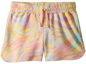 Stella McCartney Beryl Multicolor Marble Print Knit Shorts Girl's Shorts